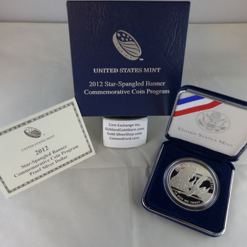 2012 Star-Spangled Banner Proof Silver Dollar