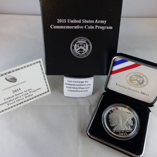 2011 United States Army Proof Silver Dollar