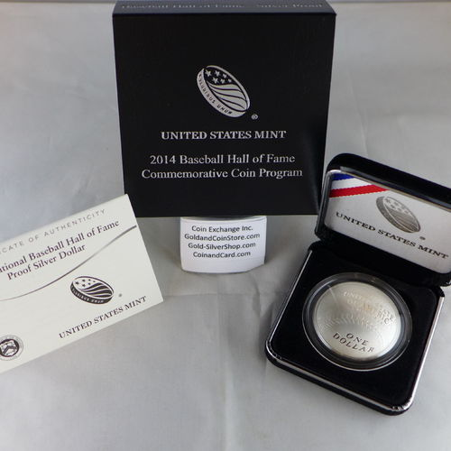 2014 National Baseball Hall of Fame Proof Silver Dollar