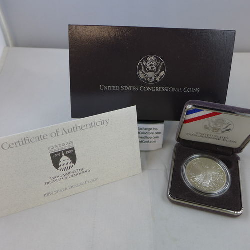 1989 Congressional Proof Silver Dollar
