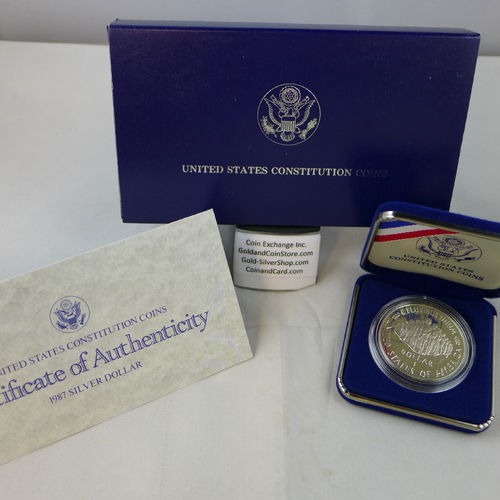 1987 Constitution Proof Silver Dollar