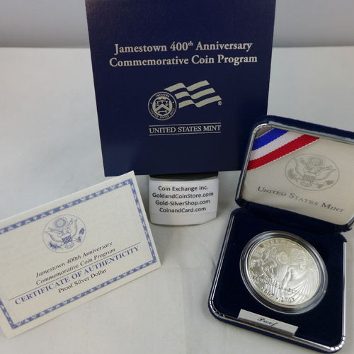 2007 Jamestown 400th Anniversary Proof Silver Dollar