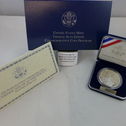 2004 Thomas Alva Edison Proof Silver Dollar