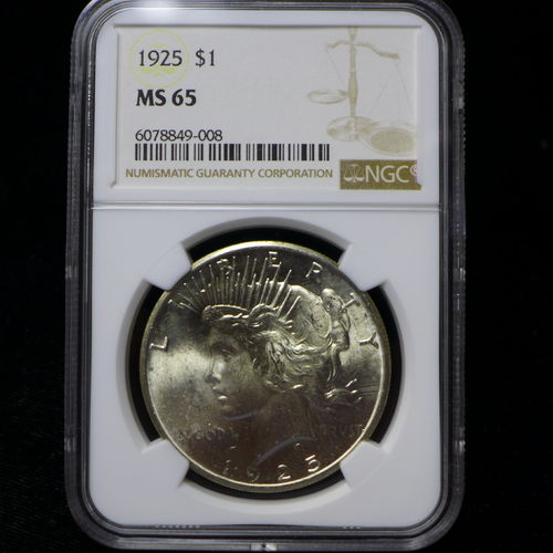 1925 Peace Silver Dollar NGC MS65