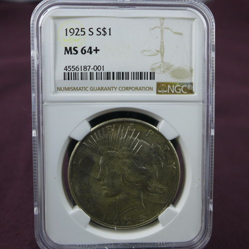 1925 S Peace Silver Dollar NGC MS64+