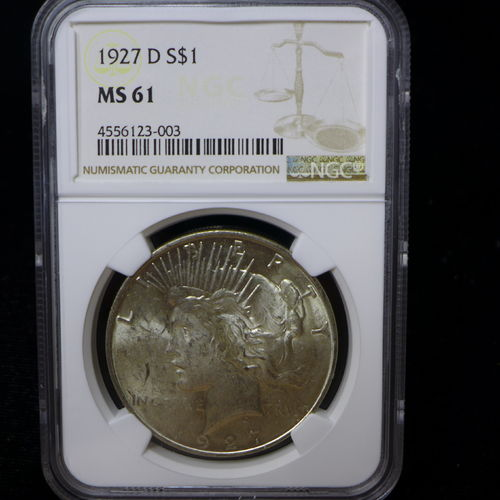 1927 Peace Silver Dollar NGC MS61