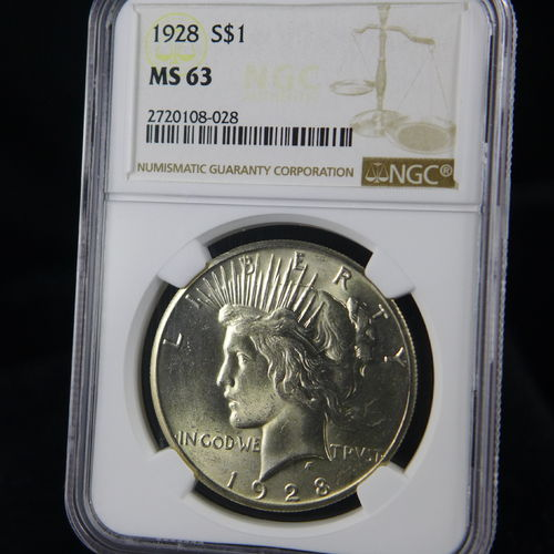 1928 Peace Silver Dollar NGC MS63