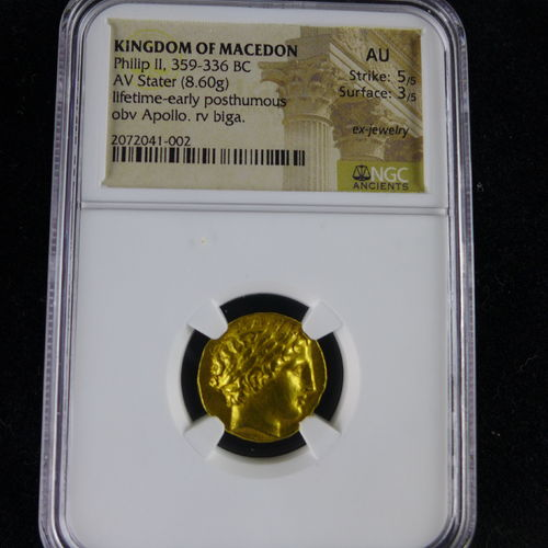 Kingdom of Macedon - Philip II 359-336 BC NGC AU