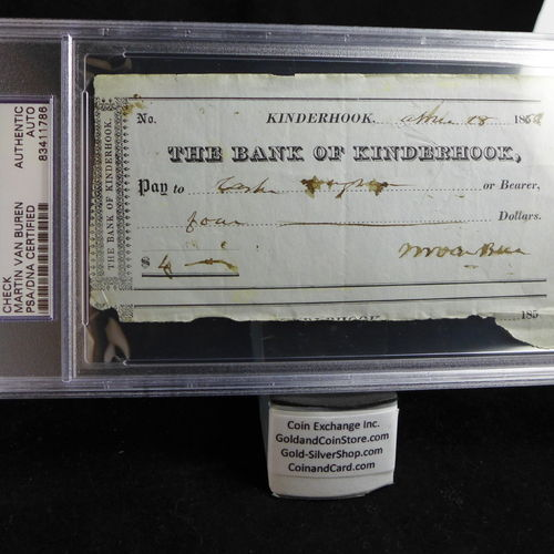 Martin Van Buren Signed Check PSA/DNA Certified