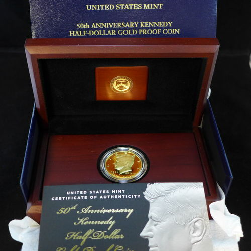 2014 50th Anniversary Kennedy Half Dollar Gold Proof Coin 3/4 oz .9999 Gold