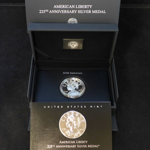 2017 American Liberty 225th Anniversary Silver Proof Medal 1 oz 99.9 Silver
