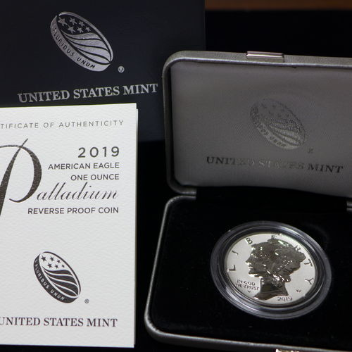 2019 $25 American Eagle 1 oz Palladium Reverse Proof Coin