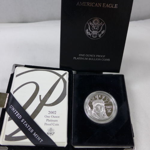 2002 1oz Platinum Eagle Proof $100 Coin