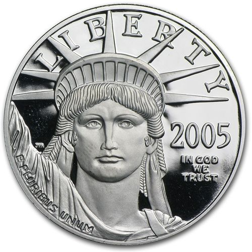2005-W 1 oz Proof Platinum American Eagle in Mint Plastic Holder