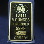 5 Oz Gold PAMP 999.9 Bar