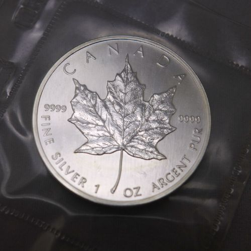1990 $5 Silver Maple Leaf (Lot of 10)