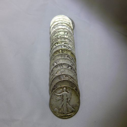 Walking Liberty Half Dollars (Roll of 20 Coins) 90% Silver