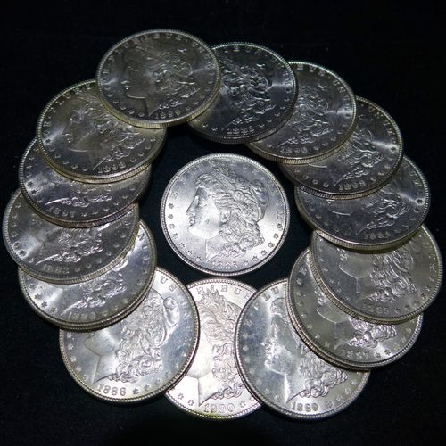 BU Morgan Silver Dollars