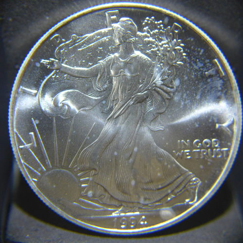1994 Silver Eagle 1 oz B.U. - Off Quality