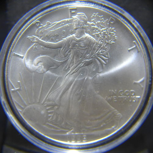1995 Silver Eagle 1 oz B.U. - Off Quality