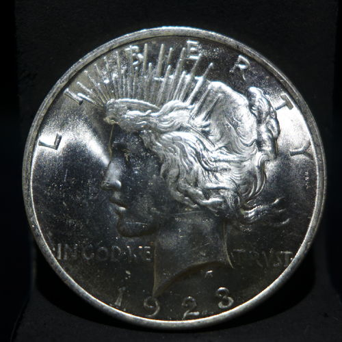 1923 Peace Silver Dollar BU MS60 or Better