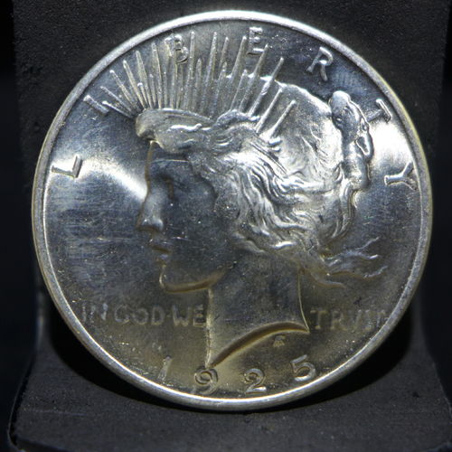 1925 Peace Silver Dollar BU MS60 or Better