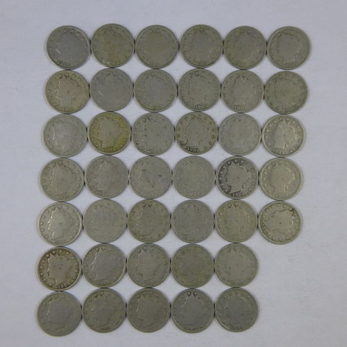 Mix Roll of 40 Liberty Head V Nickels - AG-G Avg Circulated