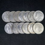 AU+ Morgan Silver Dollars