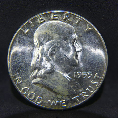 1953 Franklin Half Dollar BU