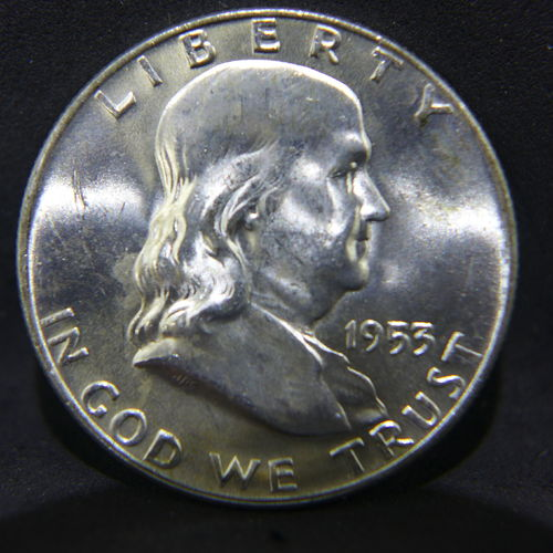1953 D Franklin Half Dollar BU