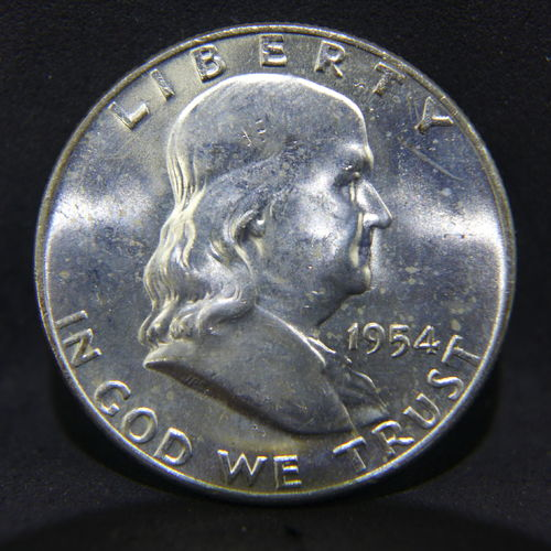1954 D Franklin Half Dollar BU