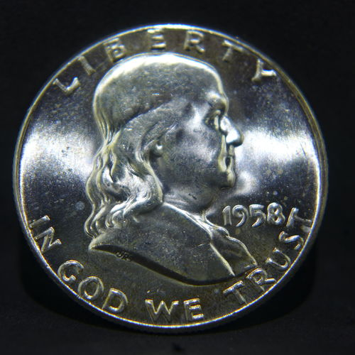 1958 Franklin Half Dollar BU