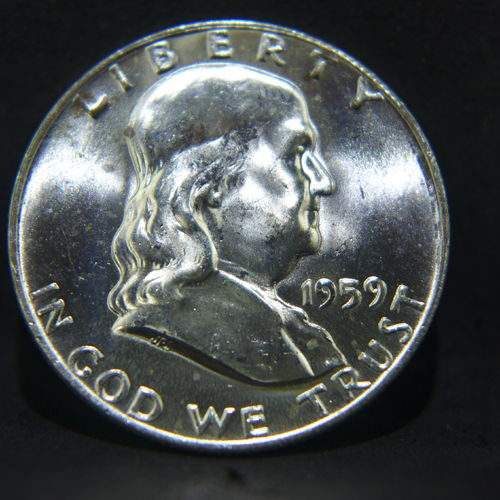 1959 D Franklin Half Dollar BU