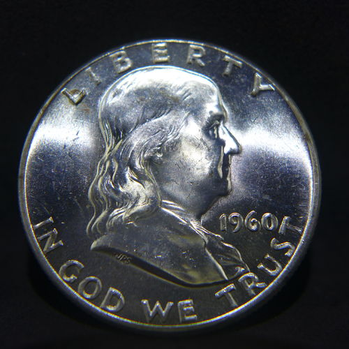 1960 Franklin Half Dollar BU