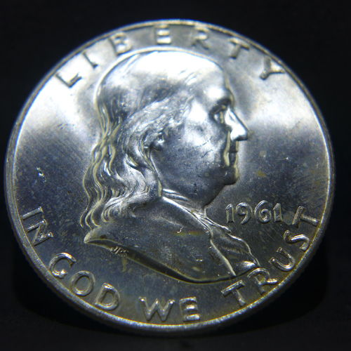 1961 D Franklin Half Dollar BU