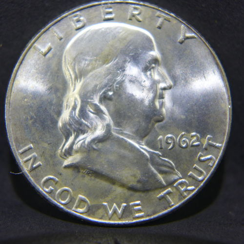 1962 D Franklin Half Dollar BU
