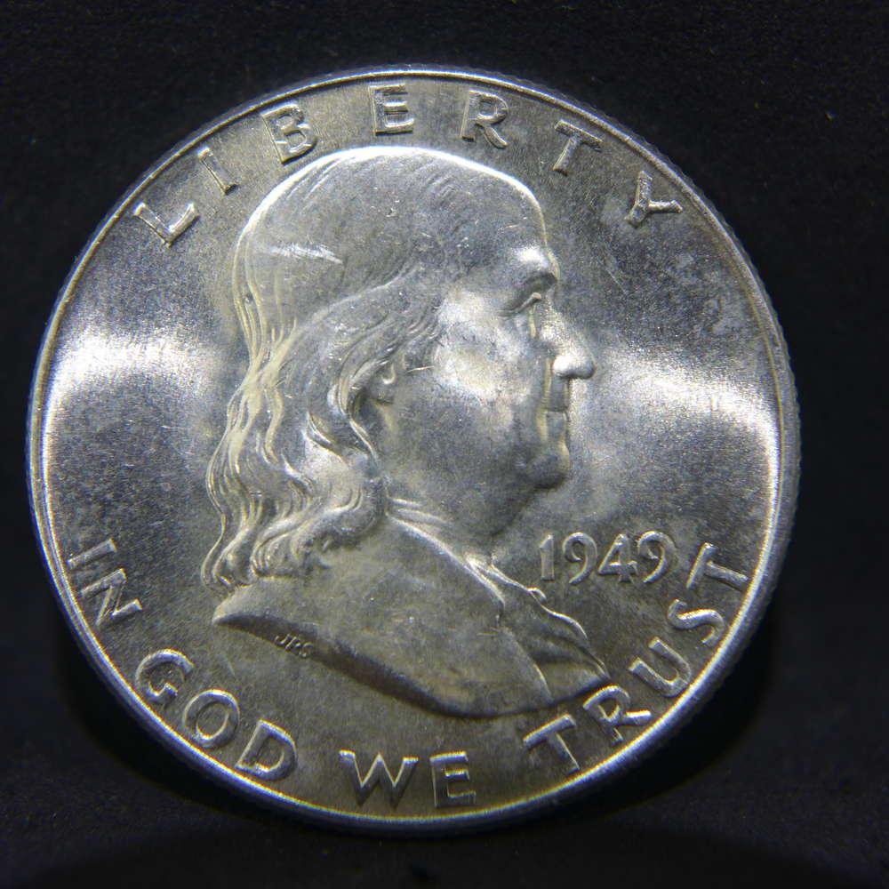 1949-D Franklin Half Dollar Brilliant Uncirculated BU