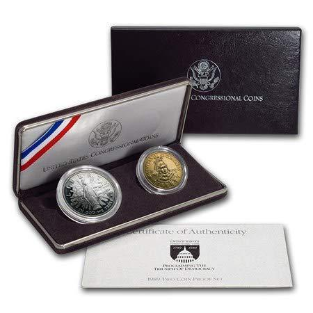 1989 2 Piece Congressional Proof Set - Silver Dollar & Half Dollar Set