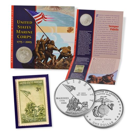 2005 Marine Corps Coin & Stamp Set