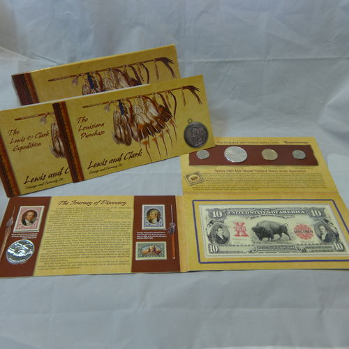 2004 Lewis and Clark Coin & Stamp Set
