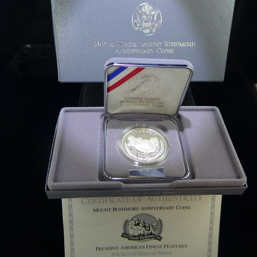 1991 Mount Rushmore Commemorative Silver Dollar Proof