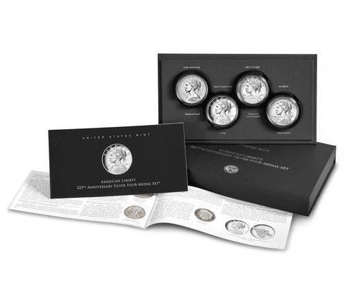 American Liberty 225th Anniversary Silver Four-Medal Set