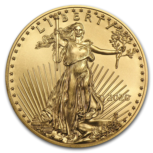 2020 $5 American Gold Eagle 1/10 oz Fine Gold