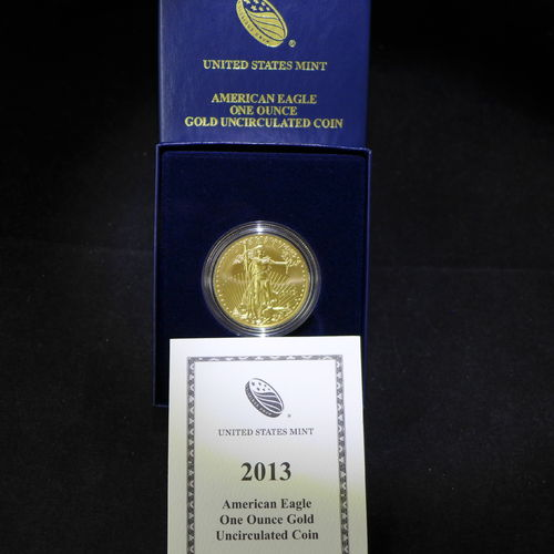 2013 W $50 American Gold Eagle 1 oz Fine Gold - Uncirculated Burnished
