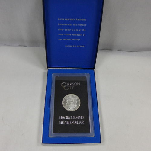 1878 CC Morgan Silver Dollar in GSA Holder w/ Box No COA (MS63)*