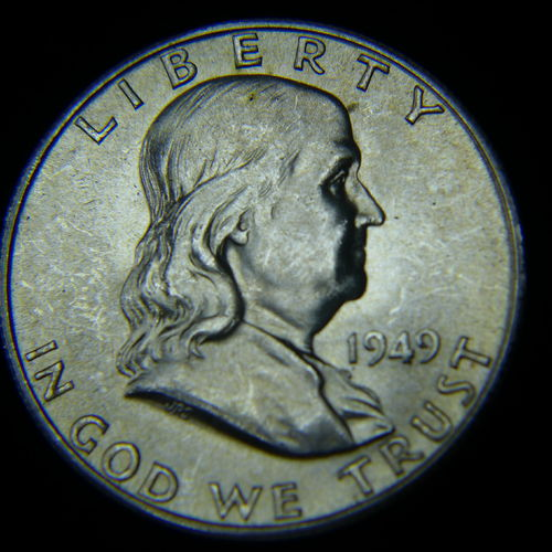 1949 S Franklin Half Dollar BU