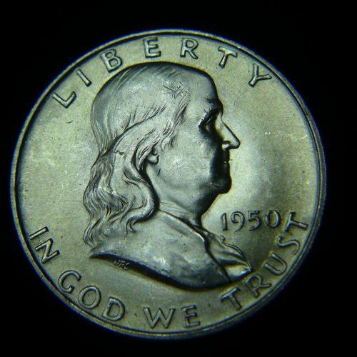 1950 D Franklin Half Dollar BU
