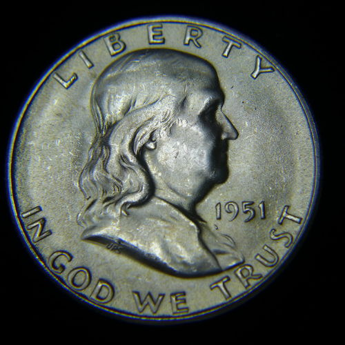 1951 S Franklin Half Dollar BU