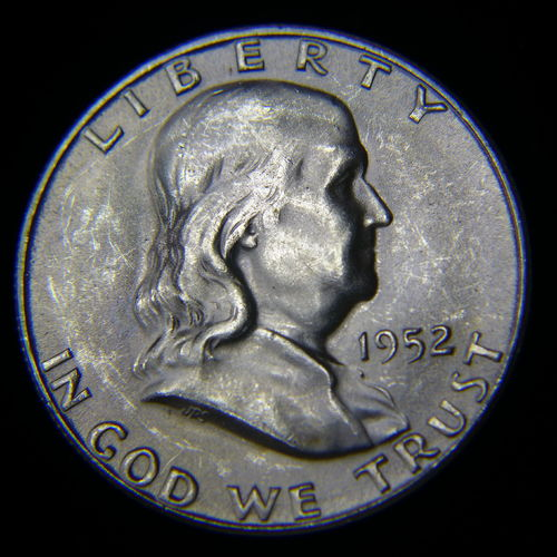 1952 S Franklin Half Dollar BU