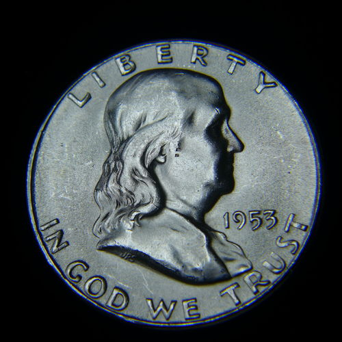 1953 S Franklin Half Dollar BU
